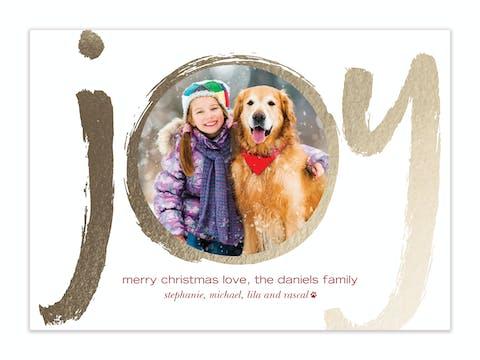 Brush Joy Holiday Photo Card