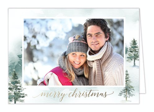Mystic Forest Folded Holiday Photo Card