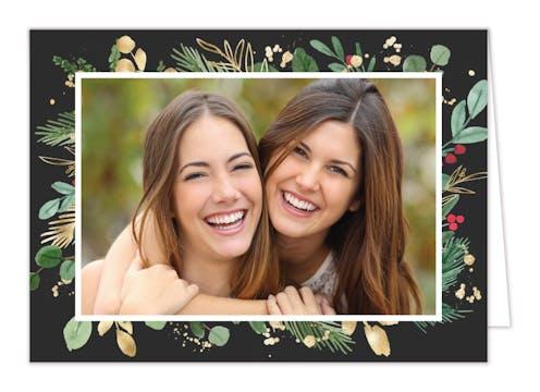 Radiant Holiday Folded Holiday Photo Card