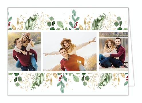 Holiday Reflection Folded Holiday Photo Card