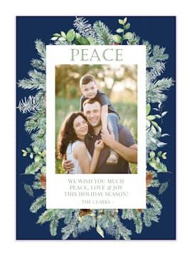Blissful Season Holiday Photo Card