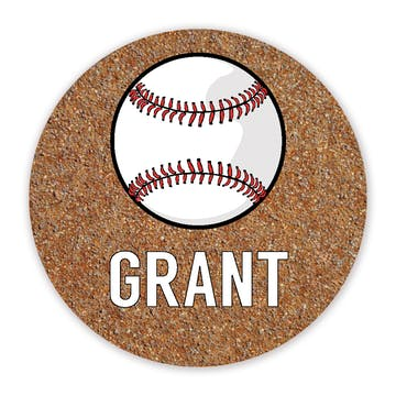 Baseball Round Gift Sticker