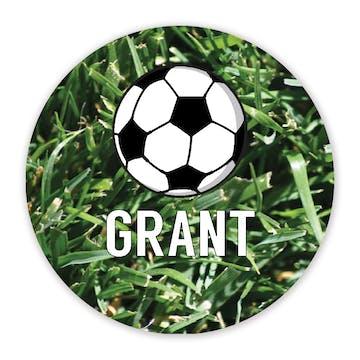 Soccer Round Gift Sticker