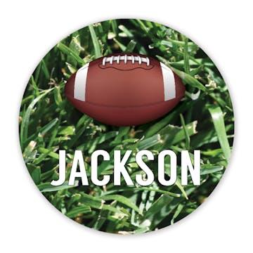 Football Round Gift Sticker