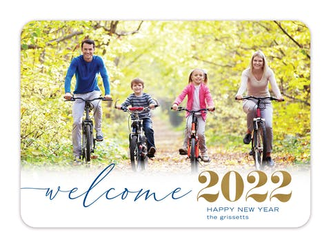 Welcome in the New Holiday Photo Card