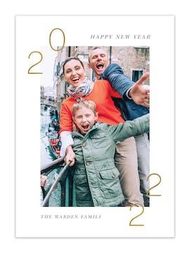 Fresh Start Holiday Photo Card