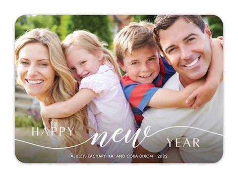 New Beginnings (Horizontal) Holiday Photo Card