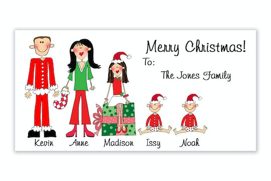 Personalized Character Family Gift Sticker