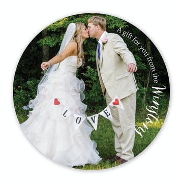 Photo Round Gift Sticker