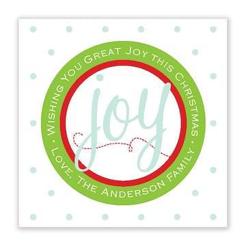Great Joy Square Gift Sticker