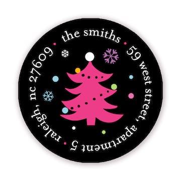 Holly Jolly Holiday 2 Inch Address Label