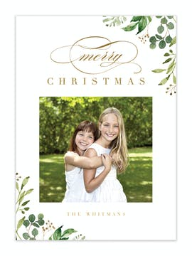 Timeless Season Foil Pressed Holiday Photo Card