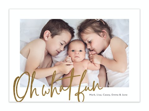 Big Fun Foil Pressed Holiday Photo Card