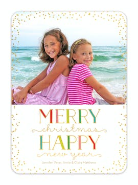 Bright Shine Foil Pressed Holiday Photo Card