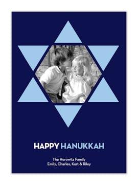Hanukkah Star Photo Card