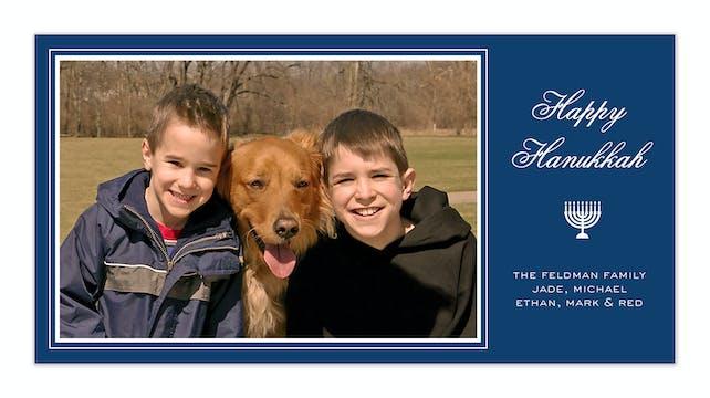 Hanukkah Holidays Flat Photo Card