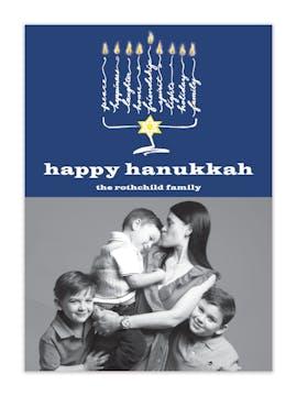 Happy Hanukkah Photo Card