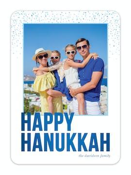 Sparkling Happy Hanukkah Photo Card
