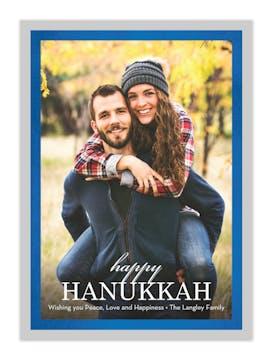 Shining Bright Hanukkah Photo Card (vertical)