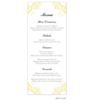 Vine Wedding Program