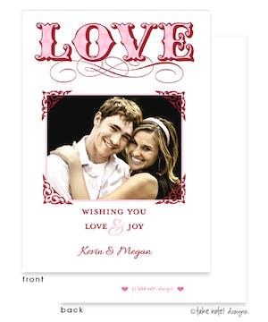 LOVE Elegant Frame Flat Photo Card