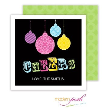 Ornament Cheer Square Enclosure Card Calling Card