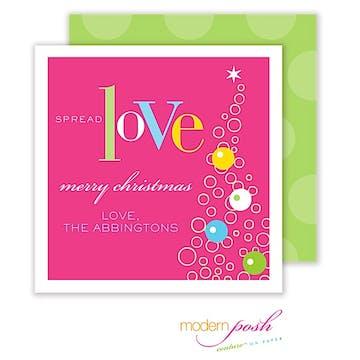 Love Holiday Square Enclosure Card Calling Card