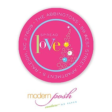 Love Holiday 2 Inch Address Label