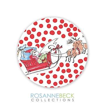 Santa Sleigh Round Envelope Seal