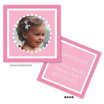 Little Me Bubblegum Photo Enclosure Card