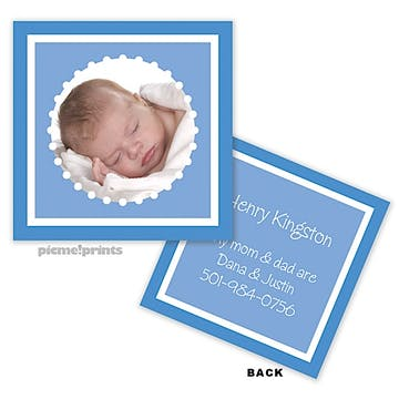 Little Me Ocean Photo Enclosure Card