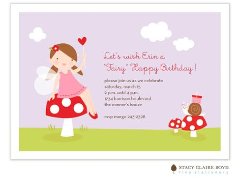 Fairy Happy Birthday Flat Card