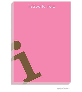 Alphabet Chocolate on Bubblegum Large Notepad