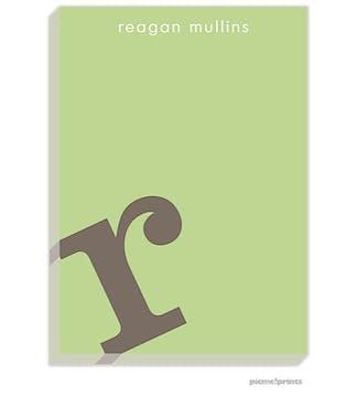 Alphabet Shale on Spring Green Large Notepad