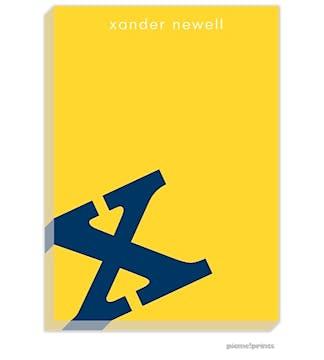 Alphabet Navy on Sunshine Large Notepad