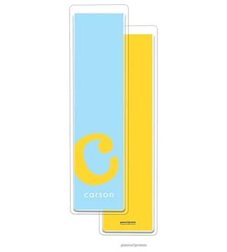 Alphabet Tall Bookmark - Sunshine on Sky