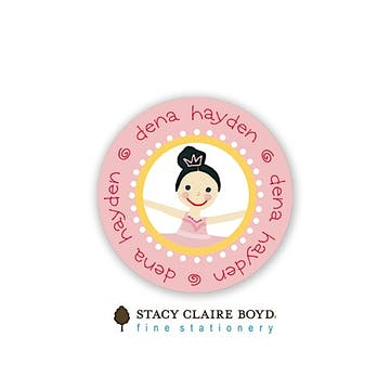Dena Ballerina Round Address Sticky