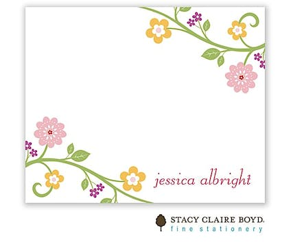 Blooming Vine Calling Card