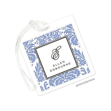 Damask Periwinkle Luggage Tag