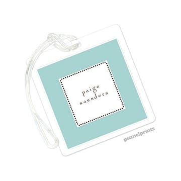 Tiny Beads Robin's Egg Luggage Tag