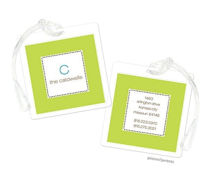 Tiny Beads Chartreuse Luggage Tag