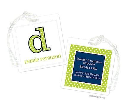 Big Dots Chartreuse ID Tag