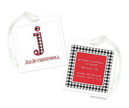 Houndstooth ID Tag