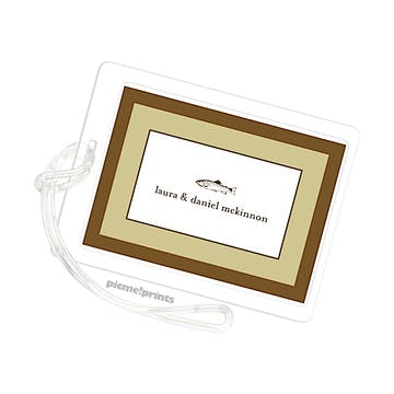 Chocolate Border Moss Luggage Tag