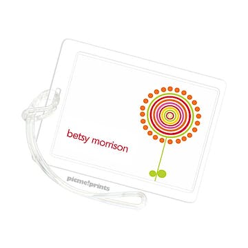 Lollies White Luggage Tag