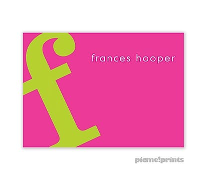 Alphabet Chartreuse on Hot Pink Enclosure