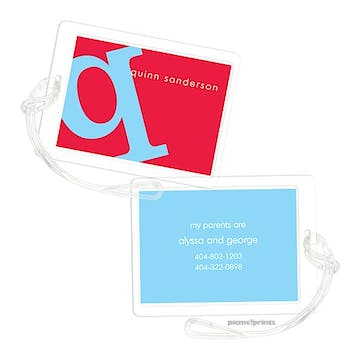 Alphabet Sky on Cherry Luggage Tag