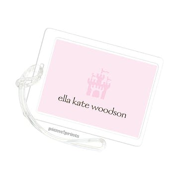 Solid Baby Pink/Baby Pink ID Tag