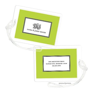 Elegance Chartreuse ID Tag