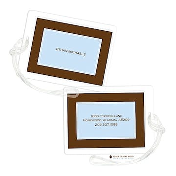 Classic Statement - Blue Luggage Tag